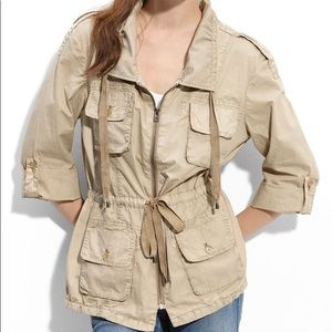 Joie Harlow Field Utility Jacket Khaki